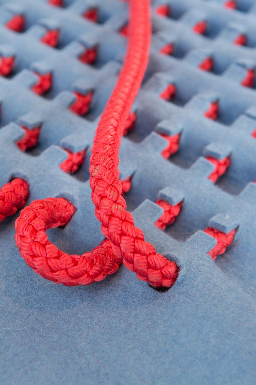 three-dimensional textiles by designer Robin Pleun Maas